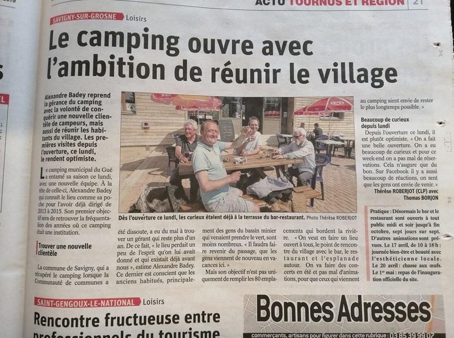 Le camping ouvre avec l'ambition de réunir le village
