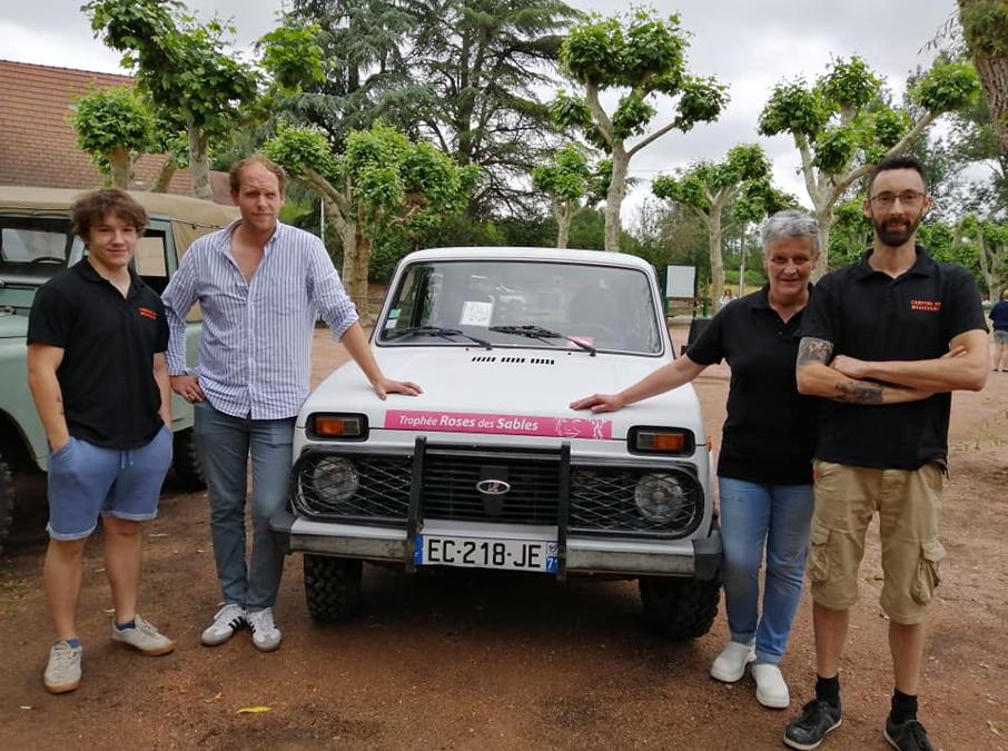L'équipe du camping soutient l'association Clé et Molette pour le Trophée Roses des Sables